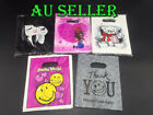 500 X Plastic Bag Carry Shopping Die Cut Handle Bags Gift Jewellery Bags LARGE