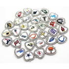 NFL Football Sports Team Pendant Charms Heart Necklace Bracelet New Lot of 15 CZ