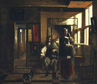 Art Photo Print - Interior With Young Couple - Hooch Pieter De 1629 1684