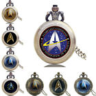 Vintage Star Trek Movie Series Alloy Quartz Pocket Watch Pendant Boy Student Men on eBay