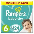Pampers Baby Dry Nappies Diapers Size 3 4 4+ 5 5+ 6 7 Saving Box Monthly Pack