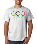 Olympic Rings Logo T Shirt Short Sleeve Tee Winter Games Sports Adult Sizes New image