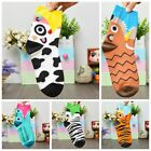 Cute Woman Child Cartoon Animal Cow Zebra Crocodile Tiger Tube Cotton Socks