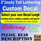 """2"""" Tall Custom Vinyl Lettering Decal  Window Wall Text City Name Business Sign"""