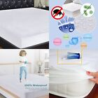 Anti Allergy Terry Cotton 100% Waterproof Mattress Protector Fitted Sheet,