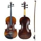 The Master Handmade Antique Violin Nature Flamed Maple Acoustic Violin