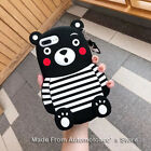 3D Cartoon Kumamon Bear Soft Silicone Phone Case Cover For iPhone X 5S SE 6 7 8P
