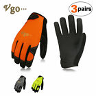 Vgo 3Pairs Work Synthetic leather Gloves,Light-duty Mechanic Gloves(PU8718P3)