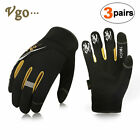 Vgo 3 Pairs High Dexterity Anti-Abrasion Mechanic Gloves, Rigger Gloves SL8853P3