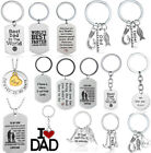 Keychain Gift For Dad Birthday Present Charm Fathers Day Daddy Key Chains Rings