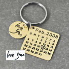 Personalized Keychain Calendar Disc Custom Name Dad Grad Mom Couples Colors Key