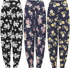 Womens High Waist Baggy Floral Harem Trousers Ladies Pants Stretch Ali Baba 8-22