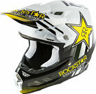 2019 Fly Racing F2 Carbon Rockstar Helmet Motocross UTV ATV Off Road