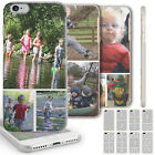 PERSONALISED PHOTO PHONE CASE CUSTOM COLLAGE CLEAR HARD COVER FOR APPLE/SAMSUNG