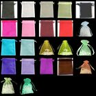 25 pcs 17x23cm Organza Gift Bags / Jewellery Pouches - Various Colours