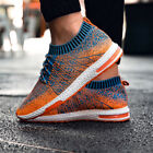 Mens Mesh Tennis Shoes Athletic Running Sneakers Knit Collar Casual Walking Gym