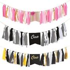 ONE 1st Birthday Banner& Ribbon High Chair Decoration Baby S