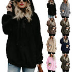 Fashion Women Casual Long Sleeve Hooded Hoodie Warm Pullovers Outfit Fleece Coat