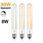3X T10/T30 LED Bulbs Tubular Edison Style LED Filament Bulb Dimmable 8W E26 Base