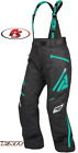 New 2020 FXR Women's Vertical Pro Snowmobile Pants Bibs - Black/Mint 6 10 14