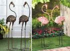 Bird Yard Stakes Statues Pink Flamingo Lawn Ornaments Art Outdoor Decor + Gift