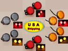 Round Universal Motorcycle Bike 20 LED Turn Signal Indicator Blinker Light Lamp $12.33 USD on eBay