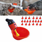 Lot Chicken Drinker Cups Automatic Plastic Poultry Water Drink Cup Water System