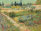 Vincent van Gogh, Garden with Flowers, 1888, Hand Painted Canvas Oil Painting