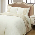 Embroideried Duvet Cover Glod Floral Pattern Luxury Style Bedding Set King Queen