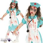 Child Girls Zombie Bloody Killer Nurse Horror Halloween Fancy Dress Costume Hat