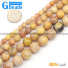 Yellow Sunstone Gemstone Faceted Round Beads For Jewelry Making Free Shipping