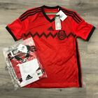 NEW Adidas Youth Mexico Red & Black Jersey World Cup 2014 Aw