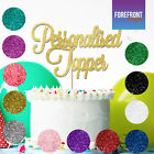PERSONALISED GLITTER Cake Topper - ANY WORD-AGE - Birthday-wedding-anniversary