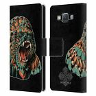 OFFICIAL BIOWORKZ COLOURED WILDLIFE 1 LEATHER BOOK CASE FOR SAMSUNG PHONES 2