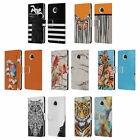 OFFICIAL GIULIO ROSSI ANIMAL COLLECTION LEATHER BOOK CASE FOR MOTOROLA PHONES