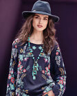 Johnny Was Kikimu Embroidered Floral Blouse Tunic Top #C10917 New Boho Chic