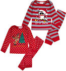 Girls Christmas Pyjama Set Xmas Pajama Red Pj 2 Psc Ages 6 9 12 18 24 Months