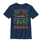 Jurassic World Ugly Christmas Sweater Print Boys Graphic T Shirt