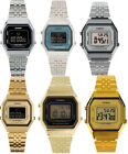 Casio Women's Digital Stopwatch Silver/Gold Tone Stainless Steel Watch LA680W image
