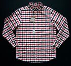 Daniel Cremieux Nwt Berry Red & Navy Check Plaid Oxford Long Sleeved Shirt