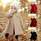 Внешний вид - Toddler Kid Girl Winter Warm Outwear Cloak Baby Long Sleeve Jacket Coat 0-5Y VS