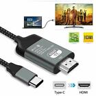 Type C to HDMI HDTV AV TV Cable Adapter For Samsung Galaxy S10 Note 9 MacBook PC