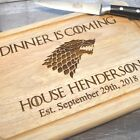 Personalised Game Of Thrones Dinner Is Coming Wooden Chopping Board Wedding Gift