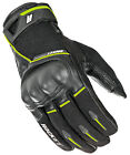 Joe Rocket Black/Hi-Viz Yellow Mens Super Moto Leather/Textile Motorcycle Gloves