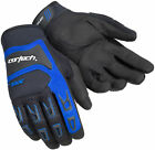 Cortech Mens & Youth Black/Blue DX-3 Textile Mesh Motorcycle Gloves