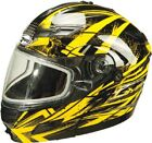 Gmax GM54S Modular Dual Lens Full Face Snowmobile Helmet DOT Yellow Adult XS-3XL