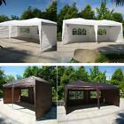 10'X20' Party Tent Wedding Folding Gazebo Sun Shade W/4 Wall Cater Event Outdoor