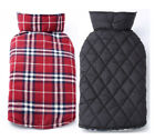 Dog Clothes Plaid Cotton Autumn and Winter Waterproof Jacket Coat For Pet Puppy