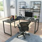 Large L-Shaped Computer Desk Workstation  Corner Home Office Wood