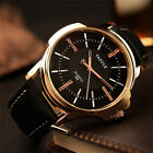 YAZOLE Top Brand Men's Watches Quartz Military Business Wristwatch Leather Band image